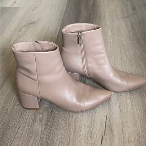 Marc Fisher Jelly Bootie Pointed Toe Nude 8